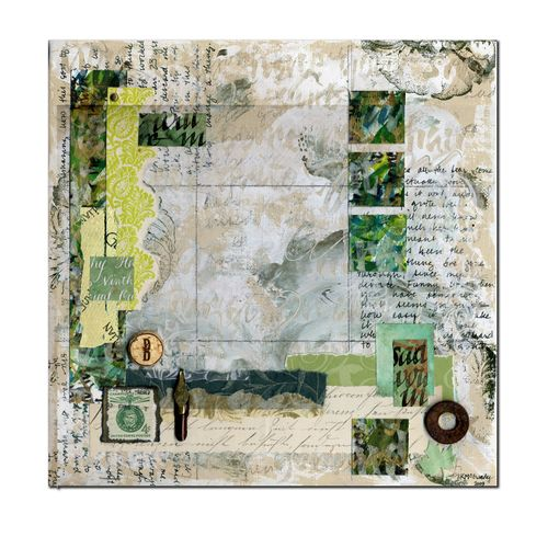 Green callig collage