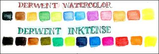 Derwent watercolors