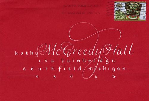 Red envelope from Celeste