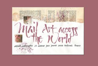 Mail art across world_pink