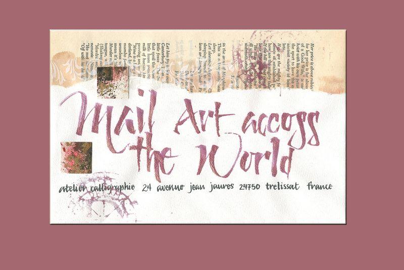 Mail art across world_pink