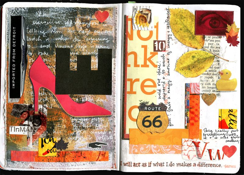 Sketchbook project pages