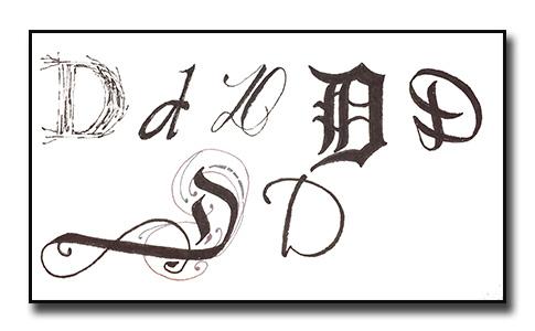 Letter study D