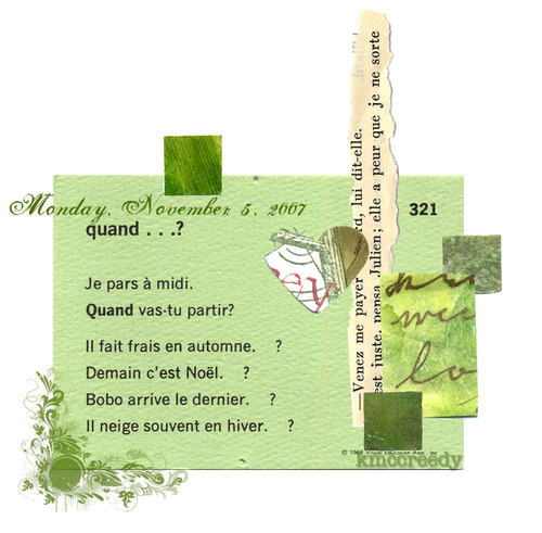 French language collage